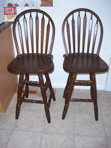 2 Counter Height Stools - swivel seat