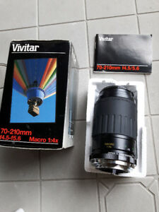 Vivitar 70-210mm f4.5-f5.6 Macro 1:4x for Yashica Contax