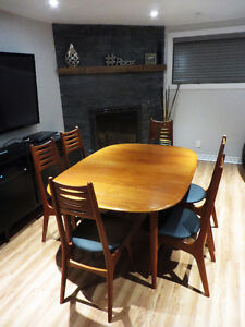 Mid-Century Teak Danish/Teck Danois Table and Chairs