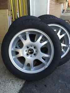 Winter tires on Mini Cooper mags