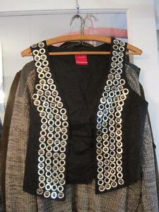 Brand New Vero Moda Ring Waistcoat Chain Mail Buttonless Vest