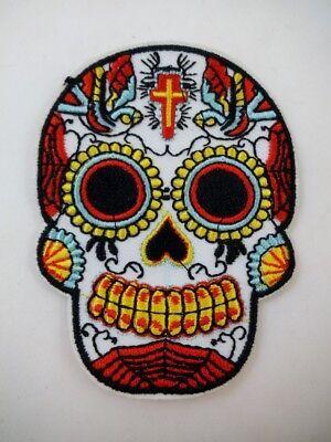 Sugar Skull Calavera Dia De Los Muertos Iron On Patch Day of the Dead Halloween