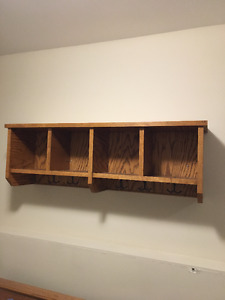 Shelf/ Cubbies / Coat hook