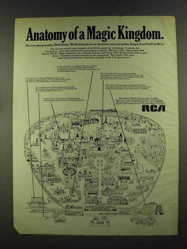 1972 RCA Electronic Nervous System Ad - Magic Kingdom
