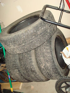 235/65R17 studded set of 4 winter tires
