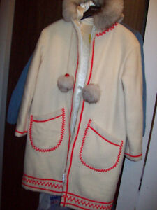 Vintage Inuit wool lined parka - Large
