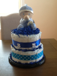"Diaper cake "" Bedtime Prayers"""