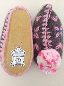 Hand made traditional Greek wool Slippers size 22 baby/toddler