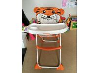 Highchair Mothercare feeding chair baby