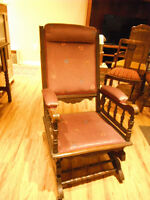 Vintage British Rocking Chair and footstool