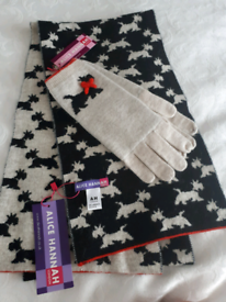 Alice Hannah gloves and scarf