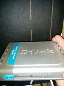D-link dl-604 cable/Router, 4-port switch