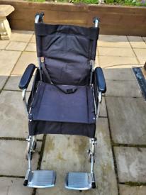 Wheelchair made of very light aluminium very good condition