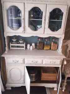 Solid wood old hutch London Ontario image 4