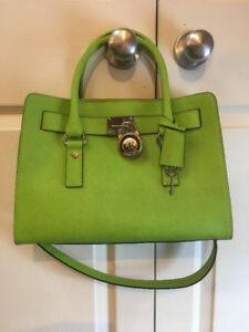 michael kors lime green  handbag-authentic-BAG #1