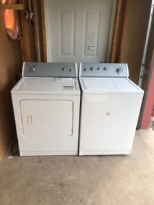 "Whirlpool White Perfect Condition 27"" Washer And Dryer For Sale"