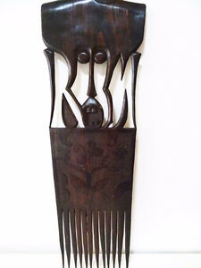 TRIBAL carved ebony COMB STYLE WALL HANGING designer piece Kitchener / Waterloo Kitchener Area image 7