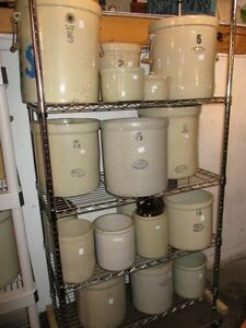 ESTATE COLLECTION OF CROCKS JUGS AND BEAN POT