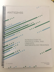ANT102 Textbook for Sale