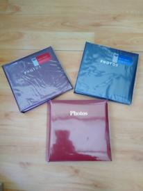 "Three (3) Slip-in Photo Albums - 6"" x 4"" photos - Brand New"