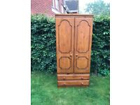 Good solid pine wardrobe with lots of storage space