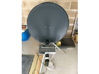 Sat dish and receiver