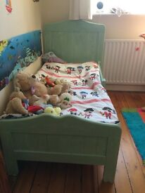 French style toddler bed with vintage paint effect