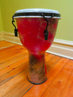 Fiberglass synthetic djembe synthétique