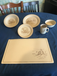 Antique Dinnerware from Collection Manoir