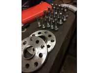 15mm alloy wheel spacers 5x100 and 5x112