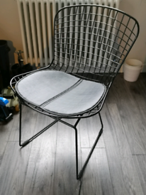 3 X black wire dining chairs £25 each