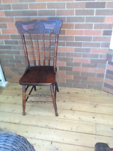 Antique Press Back Chairs, and Modern Oak Chairs