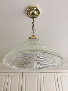 Pair of solid hanging ceiling lamps