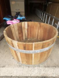 Beer barrel planter