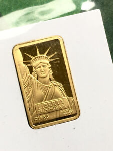 2g Credit Suisse/Liberty Fine Gold Bar in Assay Card