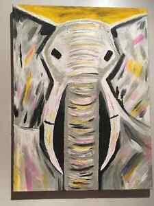 Original Acrylic Elephant Painting