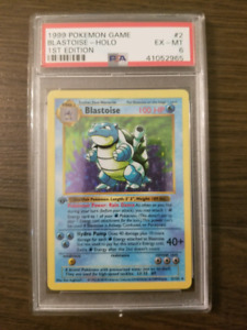 Pokemon blastoise 1st edition holo shadowless psa 6