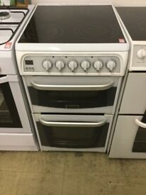 Hotpoint slim white Electric Cooker 50cm wide