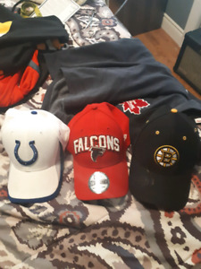 All fitted sports teams hats