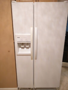 "33"" side x side refrigerator with icemaker.  excellent condition"