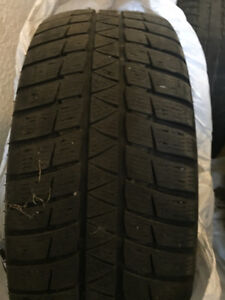 winter tires 225-55R17 on rims Prince George British Columbia image 2