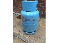Empty butane gas bottle