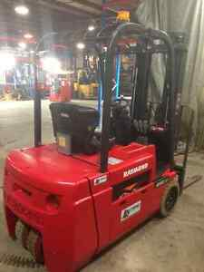 2012 Raymond 3 wheel electric forklift 4,000lb capacity