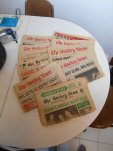 10 issues of 'The Hockey News' Newspaper (37-46 years old!)