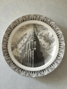 CHRYSLER BUILDING Set of 2 Salad/Dessert Plates (Slice of Life)