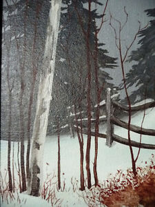 "Snowy Forest Landscape by Hilkka Pellikka ""The Evening Storm"" Stratford Kitchener Area image 7"