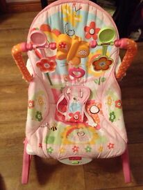 Fisher price baby to toddler rocker - pink