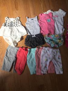 Newborn girl clothing lot