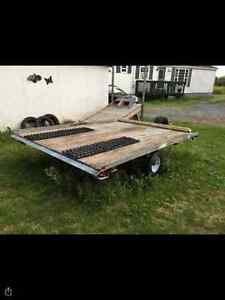 Galvanized snowmobile trailer