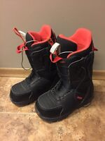 Size 6 Red and Black Burton Moto boots